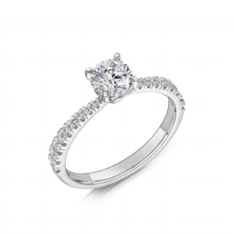 0.53 Carat GIA GVS Diamond solitaire 18ct White Gold Round brilliant Engagement Ring, MWSS-1171/033